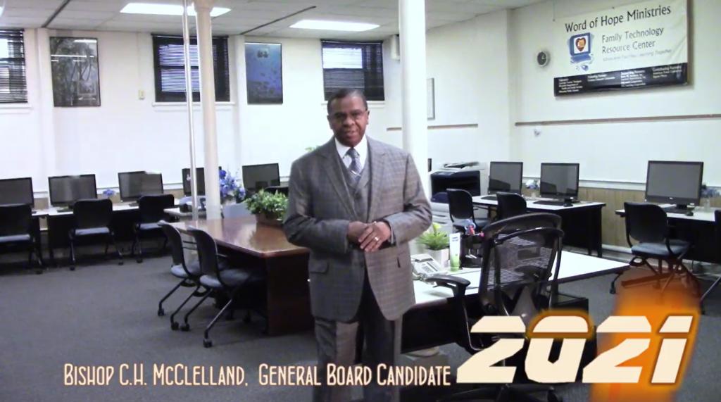 ELECT BISHOP C.H. MCCLELLAND GENERAL BOARD 2021