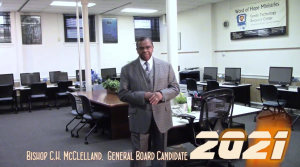 ELECT BISHOP C.H. MCCLELLAND GENERAL BOARD 2021