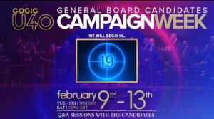 Under 40 Delegates General Board Candidates Campaign Week